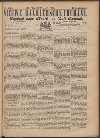 Nieuwe Haarlemsche Courant 1903-10-31
