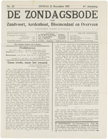 De Zondagsbode voor Zandvoort en Aerdenhout 1915-12-12