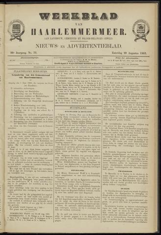 Weekblad van Haarlemmermeer 1885-08-29