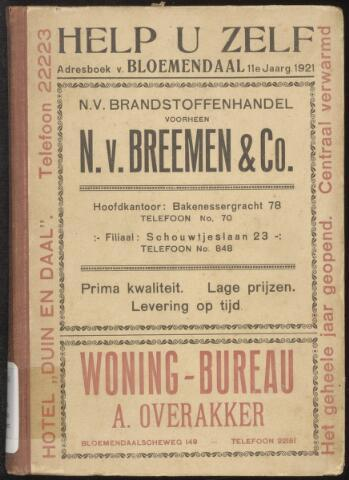 Adresboeken Bloemendaal 1921