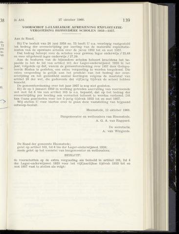 Raadsnotulen Heemstede 1960-10-27