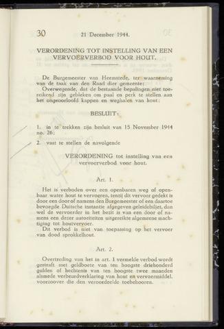 Raadsnotulen Heemstede 1944-12-21