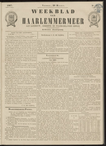 Weekblad van Haarlemmermeer 1867-03-29