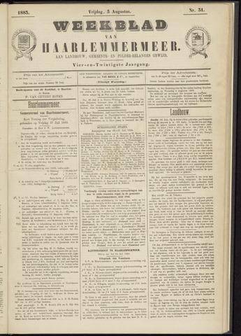 Weekblad van Haarlemmermeer 1883-08-03