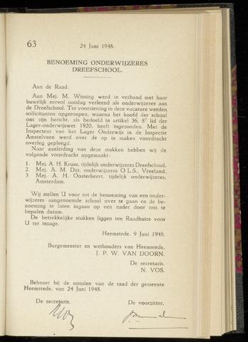 Raadsnotulen Heemstede 1948-06-24