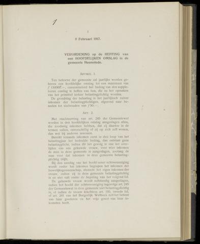 Raadsnotulen Heemstede 1917-02-09