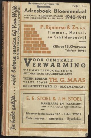 Adresboeken Bloemendaal 1940