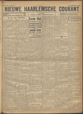 Nieuwe Haarlemsche Courant 1921-04-28