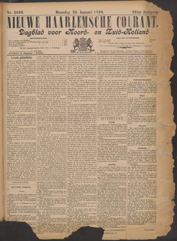 Nieuwe Haarlemsche Courant 1898-01-24