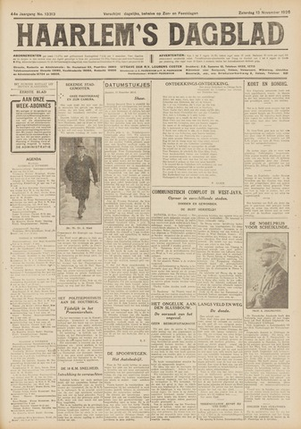 Haarlem's Dagblad 1926-11-13