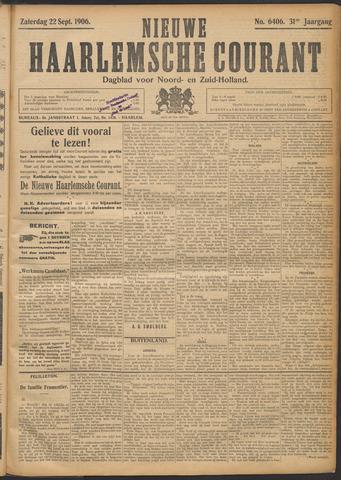 Nieuwe Haarlemsche Courant 1906-09-22