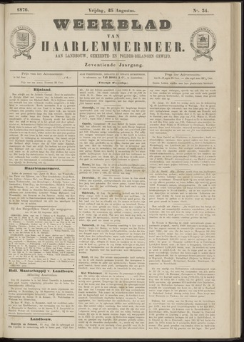 Weekblad van Haarlemmermeer 1876-08-25