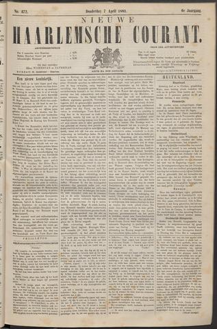 Nieuwe Haarlemsche Courant 1881-04-07