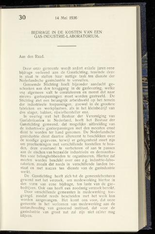Raadsnotulen Heemstede 1936-05-14