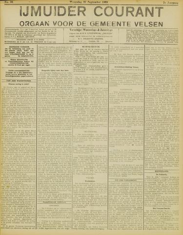 IJmuider Courant 1922-09-27