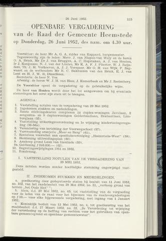 Raadsnotulen Heemstede 1952-06-26