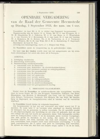 Raadsnotulen Heemstede 1953-09-01