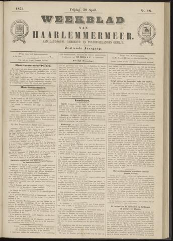 Weekblad van Haarlemmermeer 1875-04-30