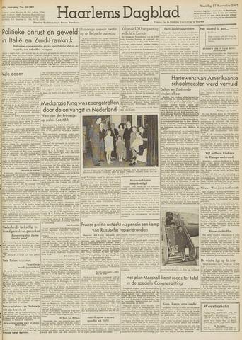 Haarlem's Dagblad 1947-11-17