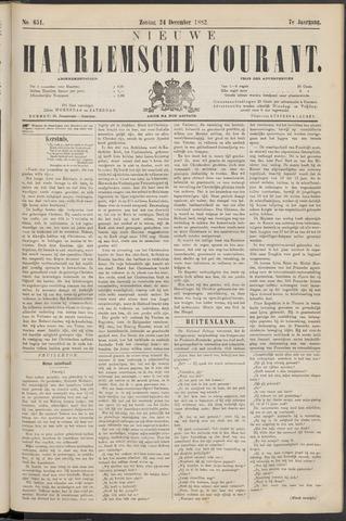 Nieuwe Haarlemsche Courant 1882-12-24
