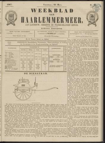 Weekblad van Haarlemmermeer 1867-05-24