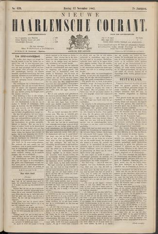 Nieuwe Haarlemsche Courant 1882-11-12