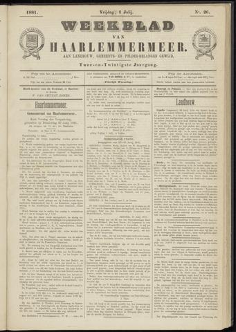 Weekblad van Haarlemmermeer 1881-07-01