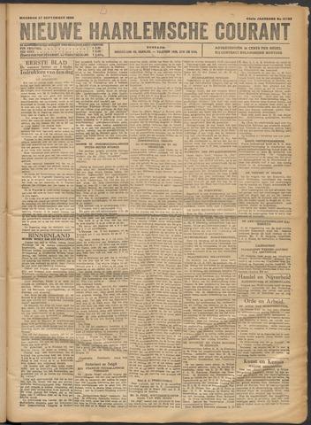 Nieuwe Haarlemsche Courant 1920-09-27
