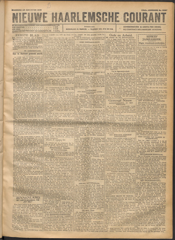 Nieuwe Haarlemsche Courant 1920-08-30