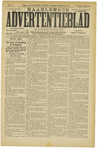 Haarlemsch Advertentieblad 1898-10-29