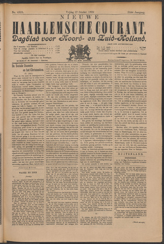 Nieuwe Haarlemsche Courant 1899-10-27