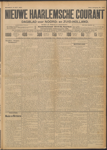 Nieuwe Haarlemsche Courant 1909-10-18