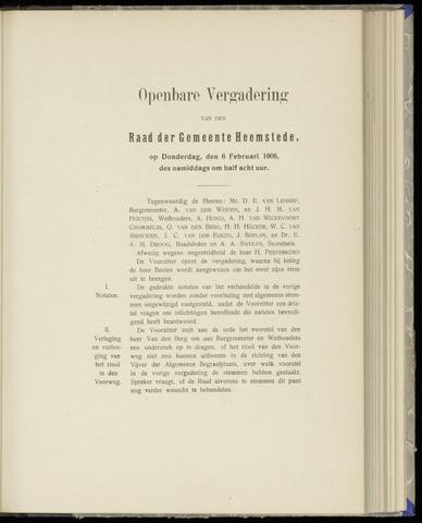 Raadsnotulen Heemstede 1908