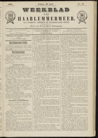 Weekblad van Haarlemmermeer 1882-04-21