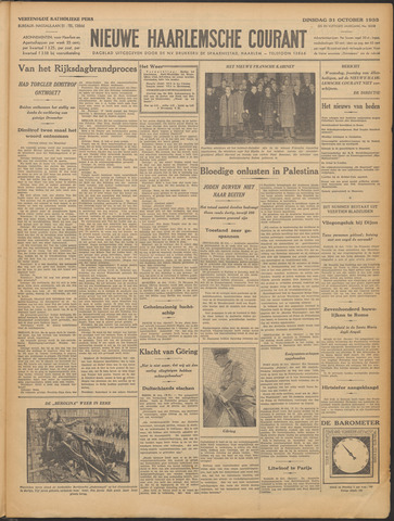 Nieuwe Haarlemsche Courant 1933-10-31