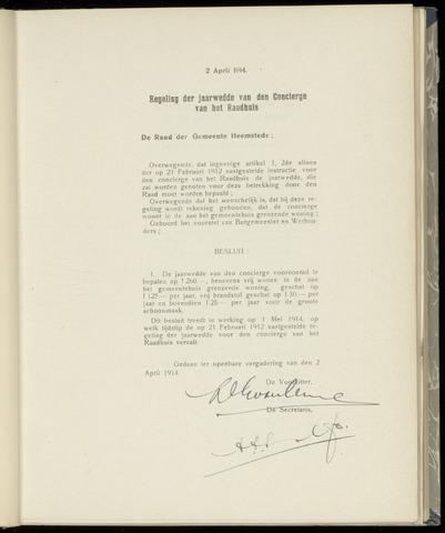 Raadsnotulen Heemstede 1914-04-02