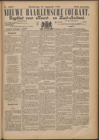 Nieuwe Haarlemsche Courant 1905-08-31