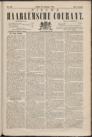 Nieuwe Haarlemsche Courant 1885-09-20