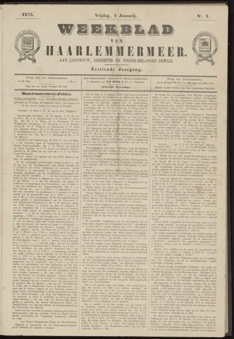 Weekblad van Haarlemmermeer 1875-01-01