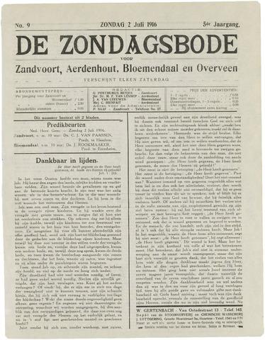 De Zondagsbode voor Zandvoort en Aerdenhout 1916-07-02