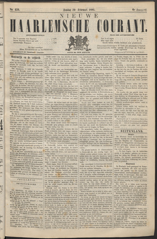 Nieuwe Haarlemsche Courant 1881-02-20