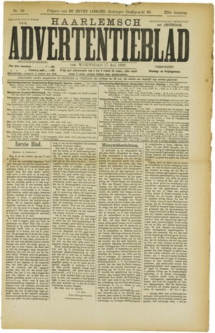 Haarlemsch Advertentieblad 1889-07-17