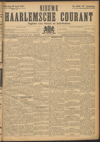 Nieuwe Haarlemsche Courant 1907-04-20
