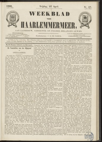 Weekblad van Haarlemmermeer 1860-04-27
