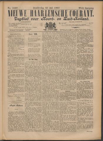Nieuwe Haarlemsche Courant 1903-07-23