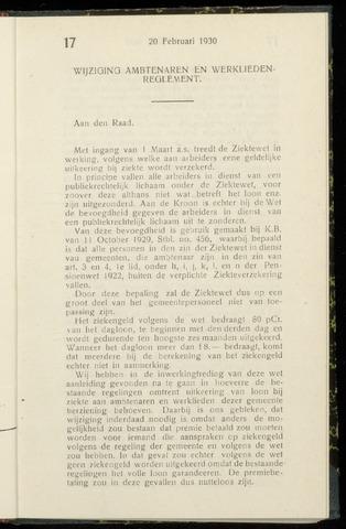Raadsnotulen Heemstede 1930-02-20