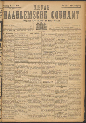 Nieuwe Haarlemsche Courant 1907-06-18