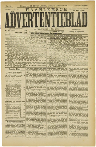 Haarlemsch Advertentieblad 1898-05-04
