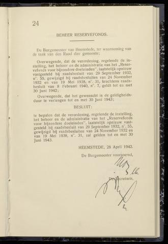 Raadsnotulen Heemstede 1942-04-28