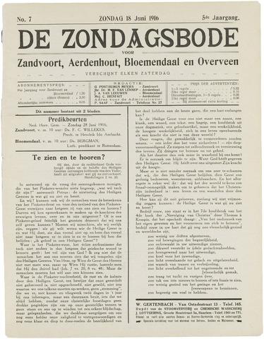 De Zondagsbode voor Zandvoort en Aerdenhout 1916-06-18